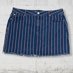 AEO Stripe Denim High Rise Mini Size 20